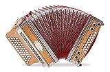 Alpenklang 4/III Harmonika'Deluxe' G-C-F-B Kirsch (Steirische Harmonika/Knopfakkordeon,...