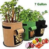 JanTeelGO 3 Stück Kartoffel Pflanzsack, 7 Gallons Pflanzen Tasche, Grow Bag Garten Gemüse...