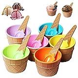 Eisschüssel Dessert Bowl Cup Eisbecher Für Kinder Eisschale Plastik Eis Schale Eis-schalen...