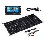 funnyfeng Sonnenkollektor, 40W 10A Solarheizkissen Solarladegerät Solarabsorber Solarmatte Mit...