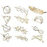 Aokebeey Haarspangen Haarnadeln, 12 Stück im Hohl-Design Metall Haarclips Perle Haarklammern...