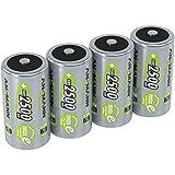 ANSMANN Akku Batterien Baby C 2500mAh 1,2V - Wiederaufladbare Batterien C NiMH mit maxE fr Gerte mit...