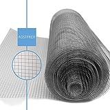Kraptrap® engmaschiger Volierendraht mit 12,7mm² Maschen – 20m x 1m Drahtgitter als Vogeldraht,...