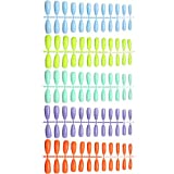 Leeofty 120 Stück Fake Nails Tips Kit Natürliche False Nails Tips Volle Abdeckung für...