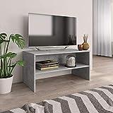 UnfadeMemory TV-Schrank Fernsehschrank Spanplatte TV-Tisch Klassisch Stil mit 1 Offenen Fach Wohnung...