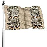 Yushang Cartoon Little Owl Durable Yard Garden Flags Saisonale Wohnaccessoires für drinnen und...