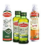 Bertolli Cucina Spray, 200ml + Originale Spray, 200ml + 2x Bio Extra Originale Flasche, 2x250ml