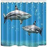 DSFA Polyester 72 * 72 Zoll Duschvorhang Wasserdicht Badezimmer Dekoration Vorhänge mit Haken...