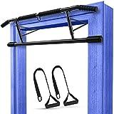 AINURU® 2in1 Klimmzugstange mit Schlingentrainer | Premium Pull Up Bar für Türrahmen | Tür...