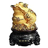 Kerryshop Skulptur Dekoration Feng Shui Frosch, Geld Lucky Frog Münze Chinese Charm for Wohlstand...