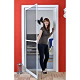 Premium Slim PLUS Fliegengitter für Tür bis max. 113 x 233 cm   mit Fiberglasgewebe - Profi...