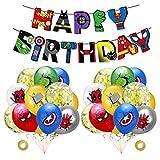 rosepartyh Superhelden Deko Geburtstag Superhelden Luftballons Superheld Alles Gute zum Geburtstag...