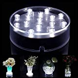 Lacgo Halloween Christmas 4 Inches Uplight Lamp Round 15 LEDs Lights Battery Powered Pedestal LED...