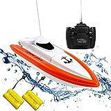 Rabing Ferngesteuertes Boot RC Boot für Pools und Seen - HY800 Rennboote 2, 4 GHz 15 km/H...