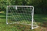 POWERSHOT Mini Fußballtor aus Stahl - weiß pulverbeschichtet - klappbar - WETTERFEST - versch....
