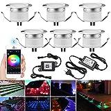 LED-Spot, Einbauleuchte, Unterbauleuchte, IP67, 12 V, Ø 31 mm, App gesteuert, Bluetooth Mesh –...