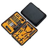 JR2021FF Maniküre Pediküre Set Nagelclipper Nail Art Tool Set Nagel Clipper Set Box Black Manicure...