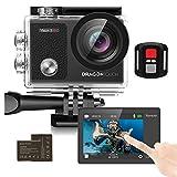 Dragon Touch Action Cam 4K /unterwasserkamera 16MP WiFi Sports Kamera wasserdicht Kamera 30M 170...