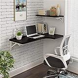 ZJHCC Zusammenklappbarer Schreibtisch an der Wand mit MDF-Esstisch mit Cabrioverdeck und 3...