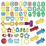 Wartoon Knetwerkzeug Teig Plastilin Werkzeuge, Knete Zubehör Ausstechformen Küchenspielzeug, 56...
