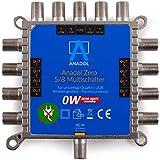 Anadol Zero Watt 5/8 - ECO - Stromloser Multischalter für 8 Teilnehmer - Geringe Stromaufnahme - 0...