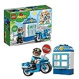 LEGO 10900 DUPLO Polizeimotorrad, Bauset mit Polizisten als Minifigur, Spielzeug für Kleinkinder