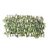 Nobranded Versenkbare Garten Zaun Spalier Sichtschutz mit Künstliche Pflanzen Outdoor Indoor Decor