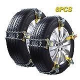 6 Stück Auto Schneeketten Universal Winter Reifenketten einstellbare Winter Reifenketten...