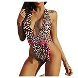 LIGESAY Damen Sexy Leopard Bikini Set Schwimmen Badeanzüge Badeanzug Strand Swimsuit Swimwear...
