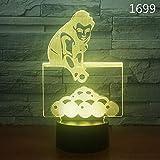 Kreatives Nachtlicht des Geschenkacryls 3d führte bunte Fernsteuerungsnachtlicht...