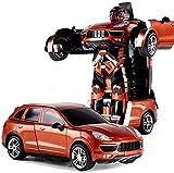 zeyujie 2.4G Transformers Car RC Remote Control Matt Black Konzept Sporty Schwarz-Funk-Fernbedienung...