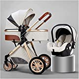 3 in 1 kompakten Kinderwagenwagen faltbar Luxus-Kinderwagen-Kinderwagen-Stoßdämpfungsfedern...