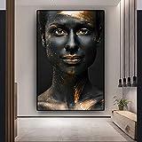 GJQFJBS African Black Girl Art Poster Wandbild Druck auf Leinwanddruck Wohnzimmer Home...