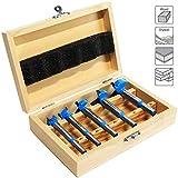 S&R Forstner Bohrer Set für Holz 5-tlg.: 15, 20, 25, 30, 35 mm in Holzbox, geschmiedeter...
