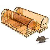 KINGEE 2 Stücke Lebendfalle Mausefalle Lebend Premium Rattenfalle Tierfalle Set, Umweltbewusst Für...