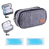 Dual-Layer Insulin kühltasche Nass-Trocken-Trennung Diabetiker Tasche Kühltaschen Boxen mit 2...