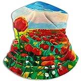 Linger In Halswärmer Original Ölgemälde Schlafmohn Papaver Schal, eine Vollgesichtsmaske oder...