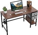 HOMIDEC Pc Tisch, Computertisch mit 2 Schubladen, Schreibtisch Bürotisch Schreibtisch Holz,...