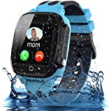 Smooce Kinder Smartwatch Telefon, wasserdichte Smartwatch für Kinder mit LBS Tracker SOS Voice Chat...
