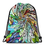 AOOEDM Glasmalerei Serie Zusammensetzung von Bio auf der Spiritualität Imagination Kordelzug...