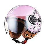 YHDQ Motorradhelm zum Aufklappen, Größe M (54-56 cm), für Damen, für alle Jahreszeiten,...