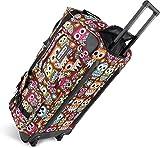 normani Leichte XXL Reisetasche Rollenreisetasche Trolley Sporttasche mit Rollen Farbe Retro Owl /...