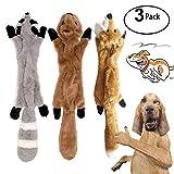 3 Pack Hund Quietschende Kauen Spielzeug Keine Füllung Hund Spielzeug Plüsch Tier Hundespielzeug...
