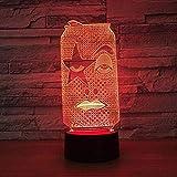 Familie kann USB-Schlüssel 3D kreative Touch LED Nachtlicht Nachtlicht Kinder LED Schrank...