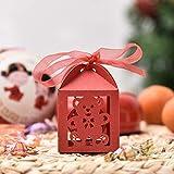 Destinely 50PCS Candy Geschenkboxen, Candy Chocolate Box, Hochzeit Hohlbox, Babyflasche Babywagen...