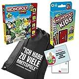 Monoply Junior und Monopoly Kids Brettspiele ab 5 Jahre - Gesellschaftsspiele mit Monopoly...