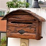 GMJYQ Wand Montiert Bequeme Briefkasten Pastoralen Amerikanischen Hochwertige Mailbox Dekoration...