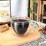 tuyuzhen 200ml Doppel hitzebestndige Glastasse mit Griff Kaffeetasse transparente Wasser Tasse...