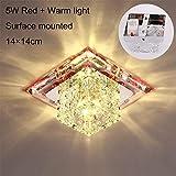 XUWLM Deckenleuchte- 3 Watt 5 Watt Led Deckenleuchten Kristall Led Licht Deckenleuchte Moderne...