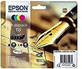 Epson Original 16 Tinte Füller (WF-2630WF WF-2650DWF WF-2660DWF WF-2750DWF WF-2760DWF, Amazon Dash...